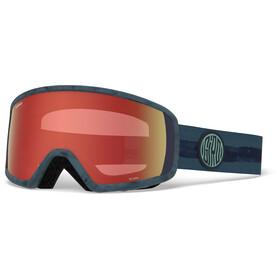 Giro Scan Sneeuw Goggles, storm dye line w amber scarlet